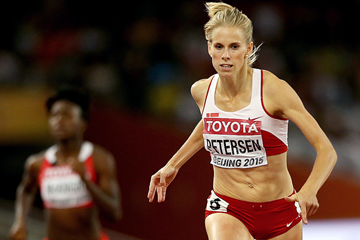 Sara Petersen in the 400m hurdles at the IAAF World Championships Beijing 2015 (Getty Images)