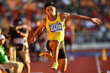 Muhammad Hakimi Ismail in the triple jump at the Southeast Asian Games (AFP / Getty Images)