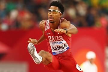 Abderrahman Samba in the 400m hurdles at the IAAF World Athletics Championships Doha 2019 (Getty Images)