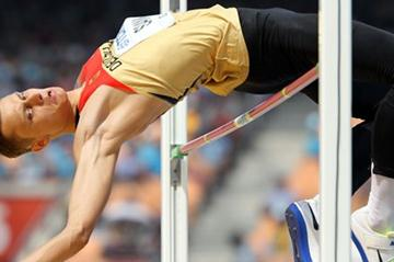 Germany's Raul Spank in High Jump qualifying (Getty Images - Allsport)