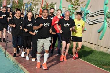 Runners take part in the IAAF Run 24-1 event in Lanzhou (IAAF)