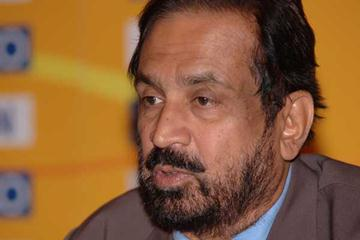 Suresh Kalmadi at the press conference (IAAF)