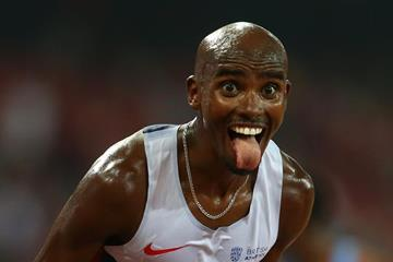 Mo Farah, winner of the 10,000m at the IAAF World Championships, Beijing 2015 (Getty Images)
