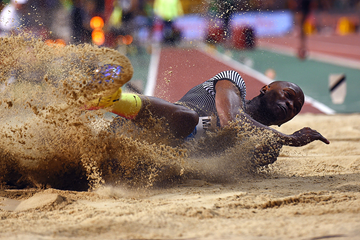 South African long jumper Luvo Manyonga (AFP / Getty Images)