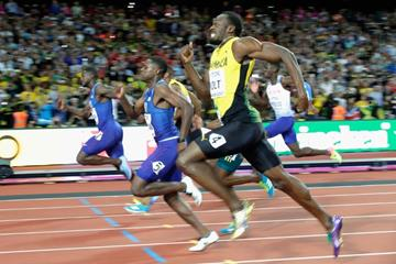 Close! Men's 100m final at the IAAF World Championships London 2017 (Getty Images)