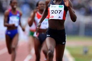 Pamela Chelimo en route to her 800m breakthrough in Addis Ababa (Jiro Mochizuki (Agence shot))