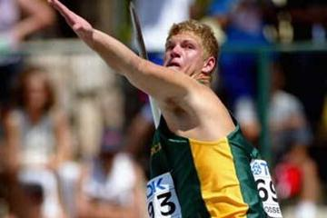 Raldu Potgieter of South Africa during men's the Javelin qualification (Getty Images)