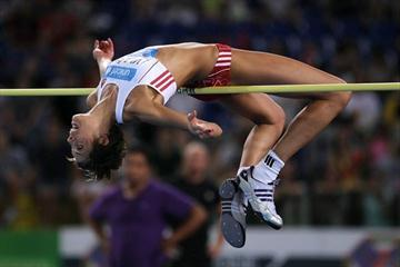 Victory at 2.03m for Blanka Vlasic in Rome (Giancarlo Colombo)