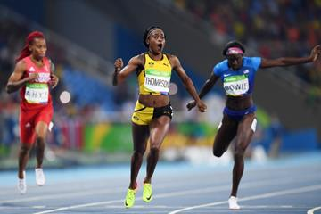 Elaine Thompson wins the 200m at the Rio 2016 Olympic Games (Getty Images)