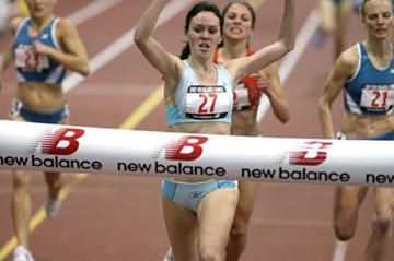 Mary Cullen's surprise mile victory at New Balance Games in New York (Victah Sailer)