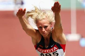 Bianca Kappler of Germany in the long jump at the 2007 IAAF World Championships (Getty Images)