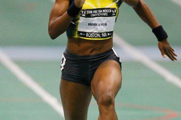 Angela Williams takes the US 60m title (Getty Images)
