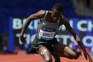 Conseslus Kipruto at the 2016 IAAF Diamond League meeting in Birmingham (Jean-Pierre Durand)