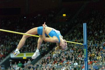 Kajsa Bergqvist winning the 2006 Eurojump in Goteborg (Hasse Sjögren)