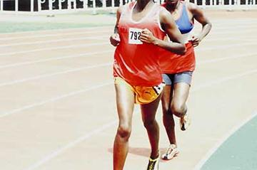 Monica Wangare in the women's 10,000m in Nairobi (Omulo Okoth)