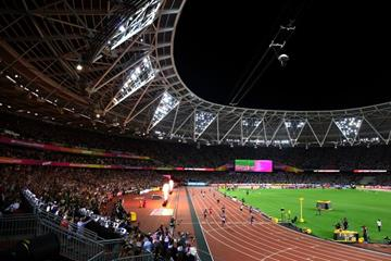 The finish of the men's 4x100m at the IAAF World Championships London 2017 (Getty Images)