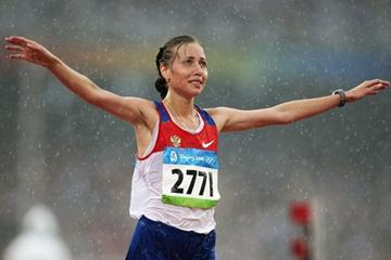 Olga Kaniskina: world 20km walk champion last year, Olympic champion this year (Getty Images)