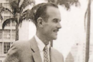 Dieter Gerner (left) with Adhemar Ferreira da Silva ()
