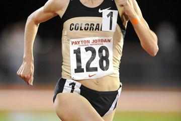Jenny Barringer en route to her US collegiate record at Stanford (Kirby Lee)