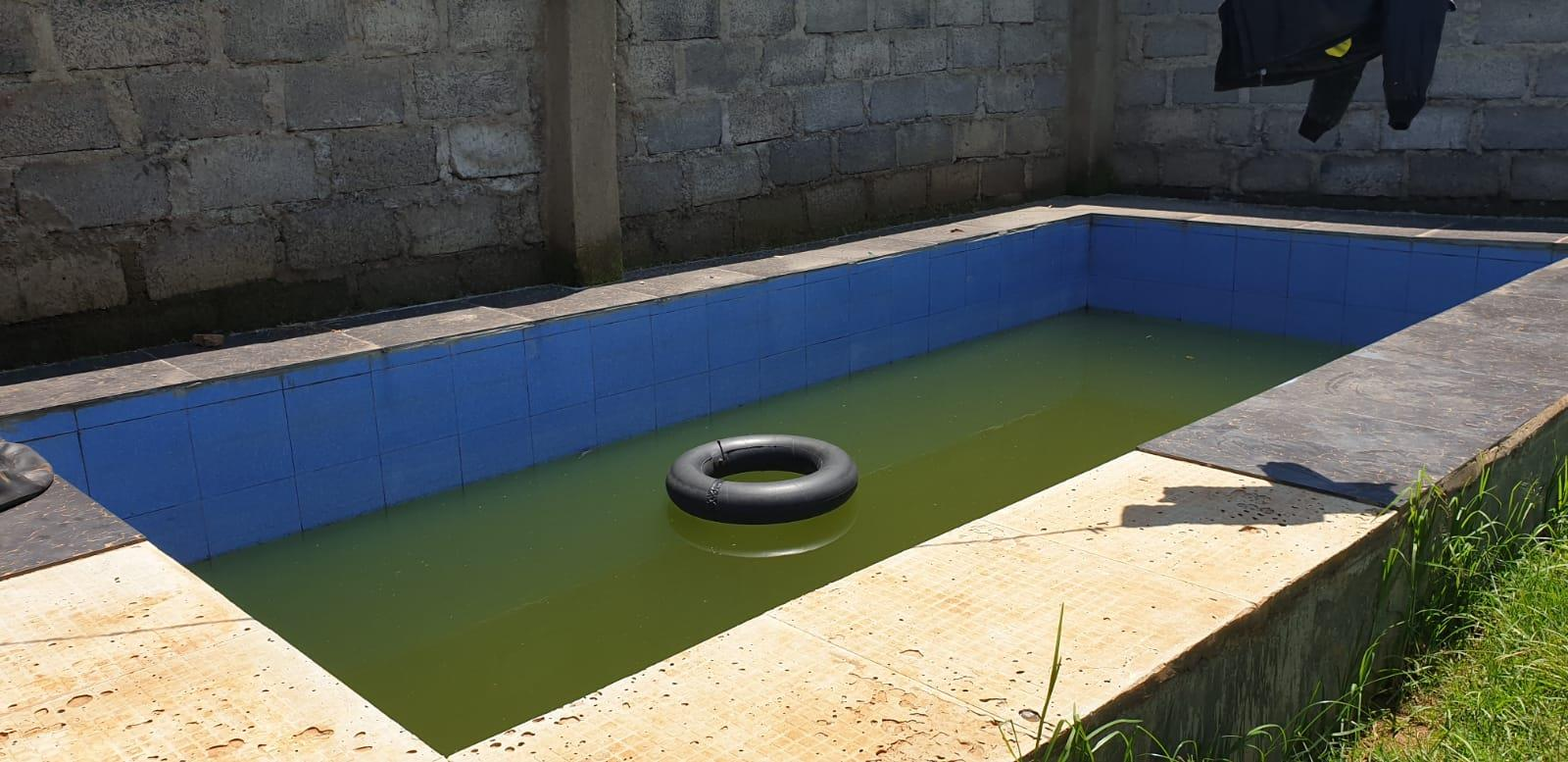 Conseslus Kipruto's self-built pool