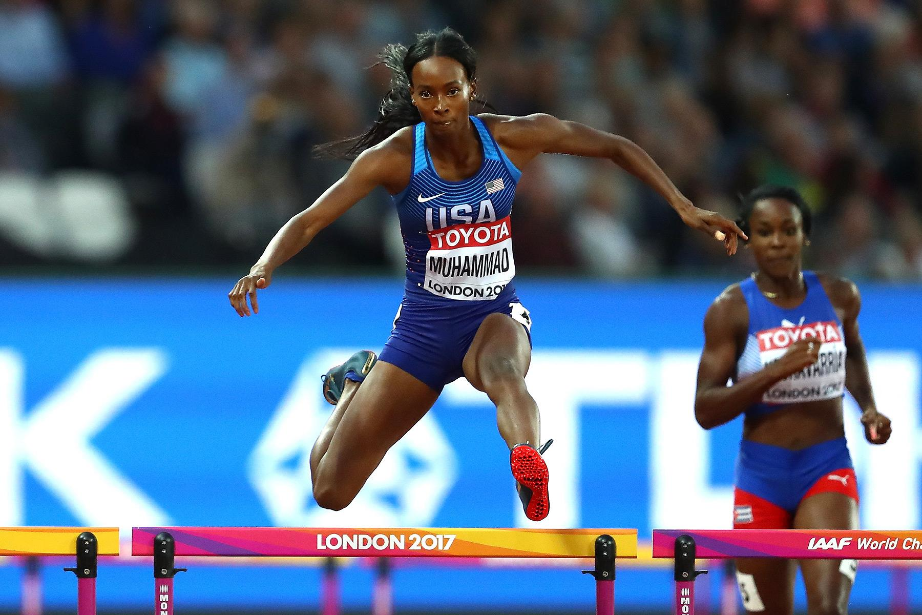 Dalilah Muhammad in action at the IAAF World Championships London 2017 (Getty Images)