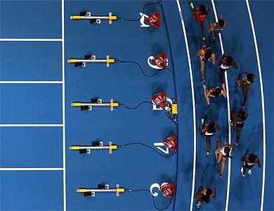 Athletes in action at the IAAF World Indoor Championships (Getty Images)