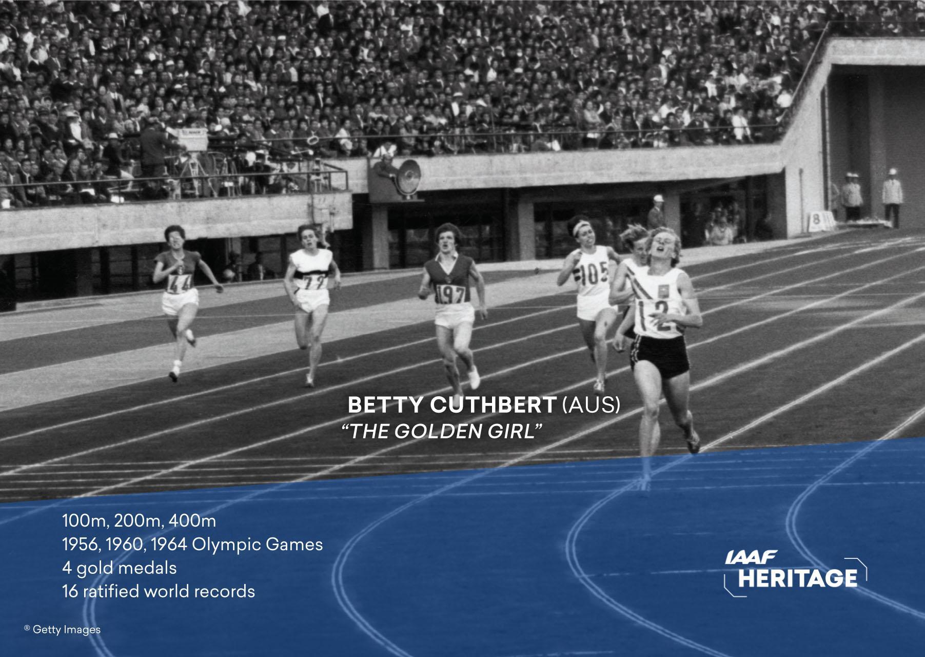Watch Betty Cuthbert 4 Olympic medals video