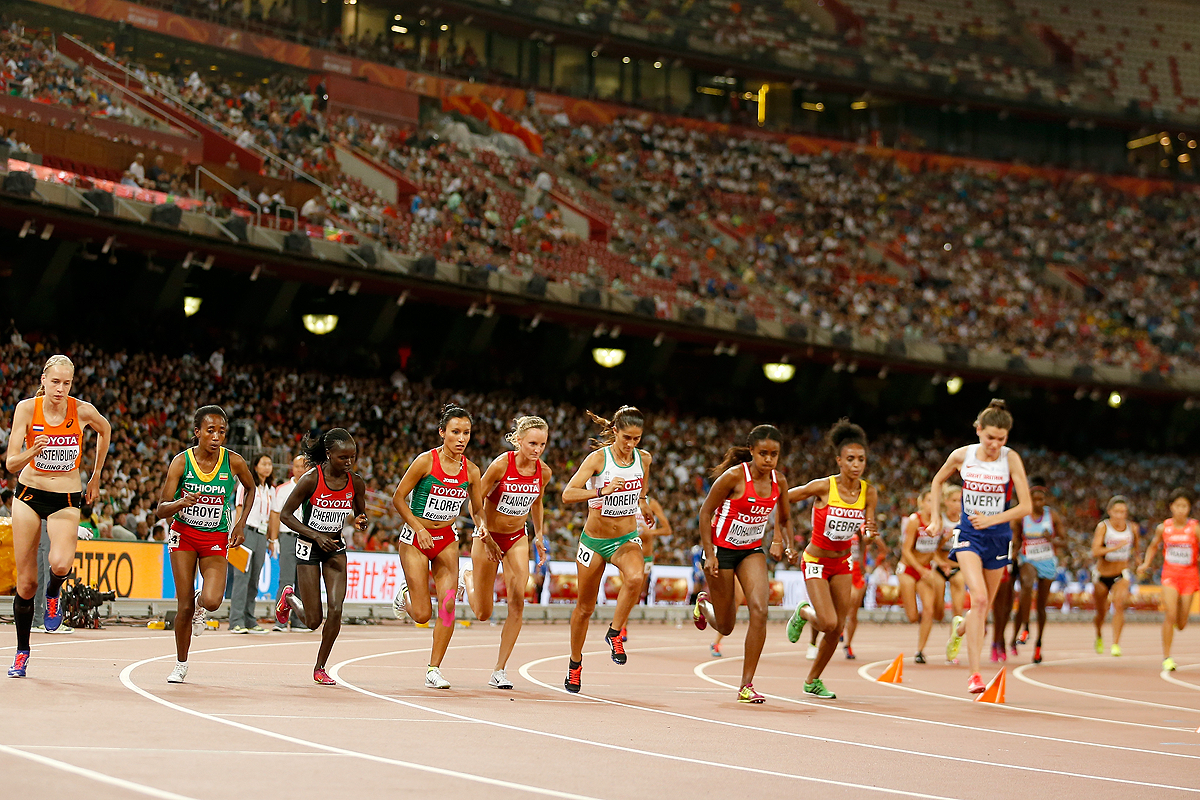 The start of the women's 10,000m at the IAAF World Championships Beijing 2015 (Getty Images)