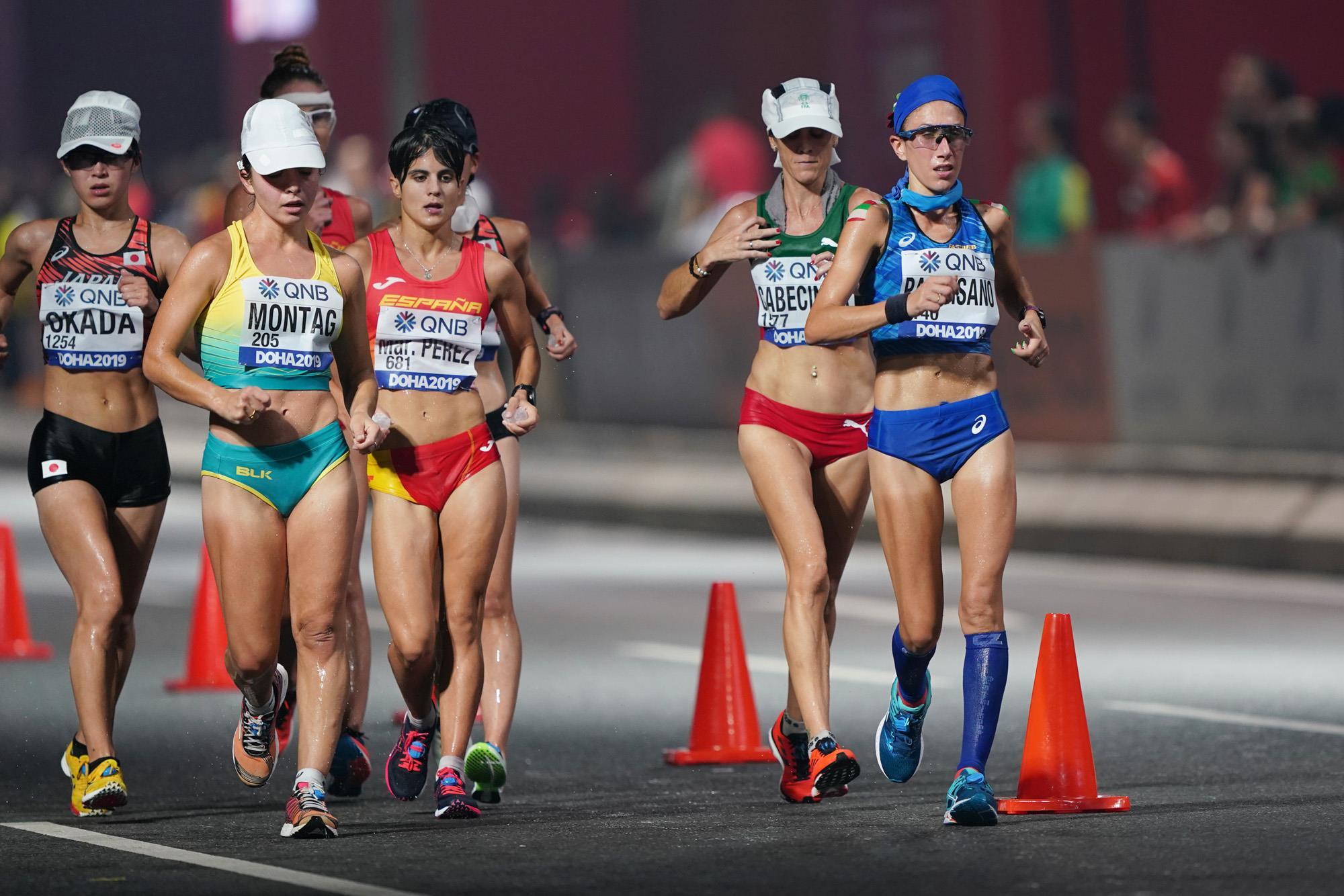 Women's 20km race walk at the World Championships (Matt Quine)