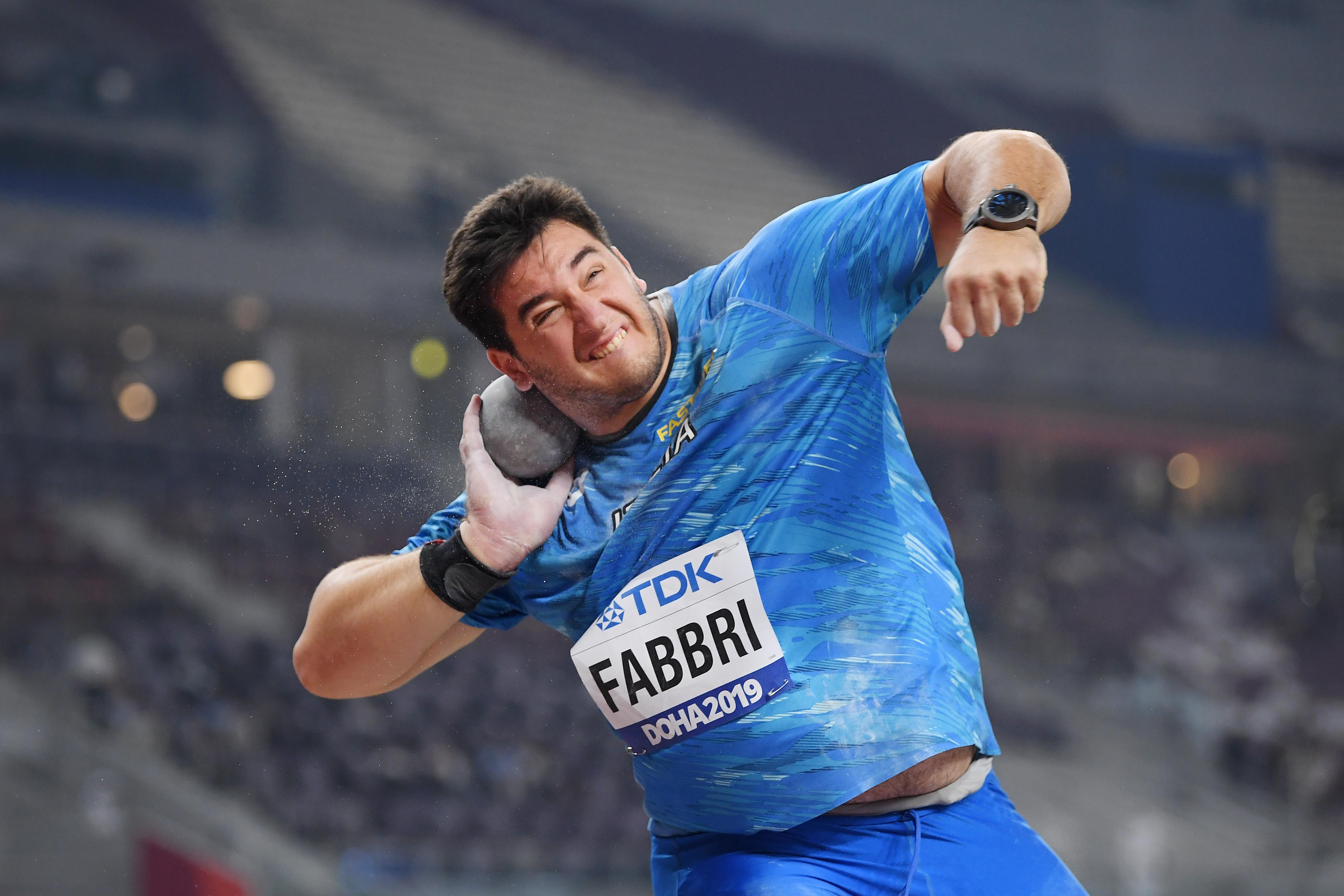 Leonardo Fabbri in the shot put at the World Athletics Championships Doha 2019 (Getty Images)