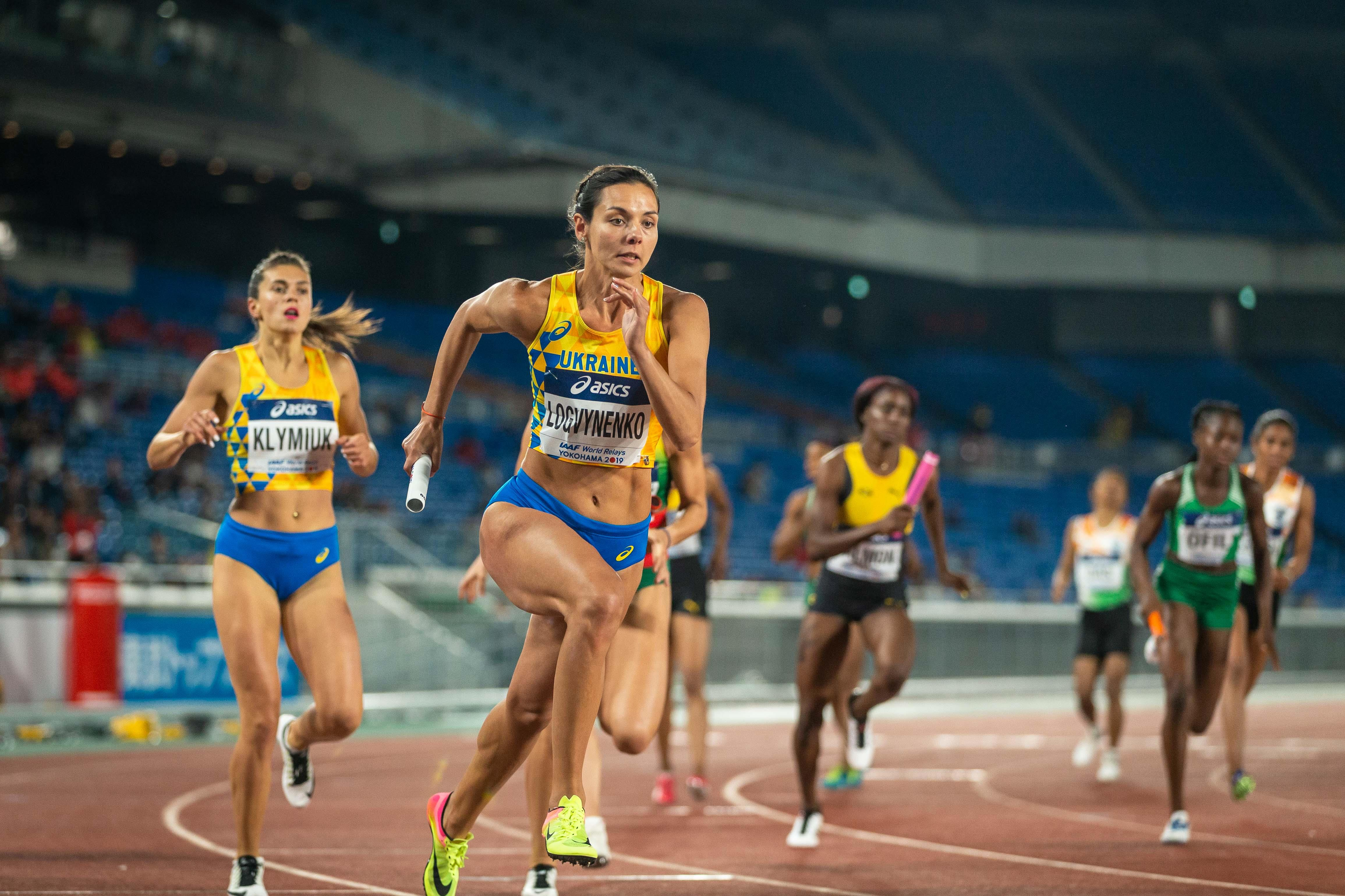 Ukraine in action in the 4x400m at the World Relays (Dan Vernon)