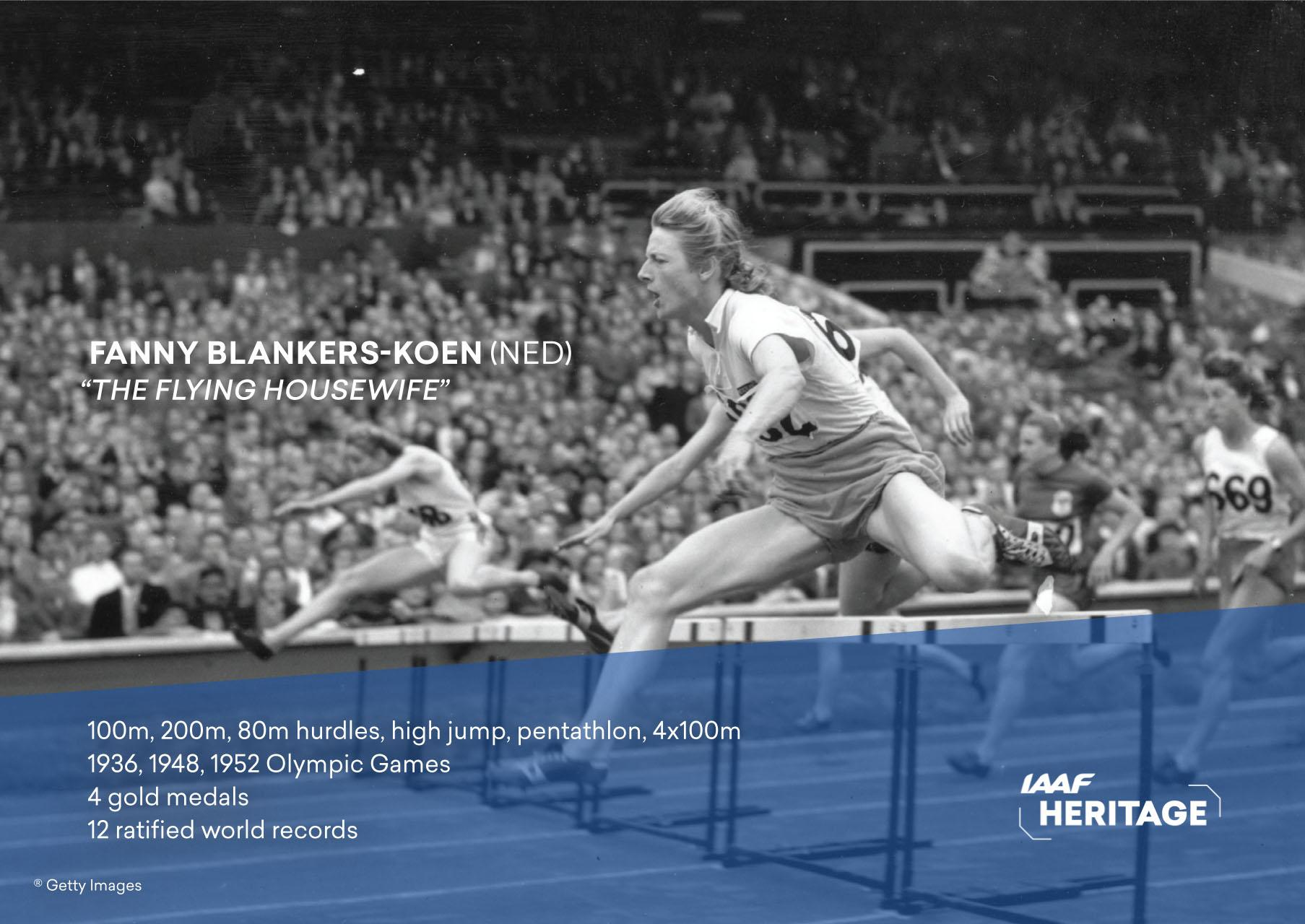 Watch Fanny Blankers-Koen 4 Olympic medals video