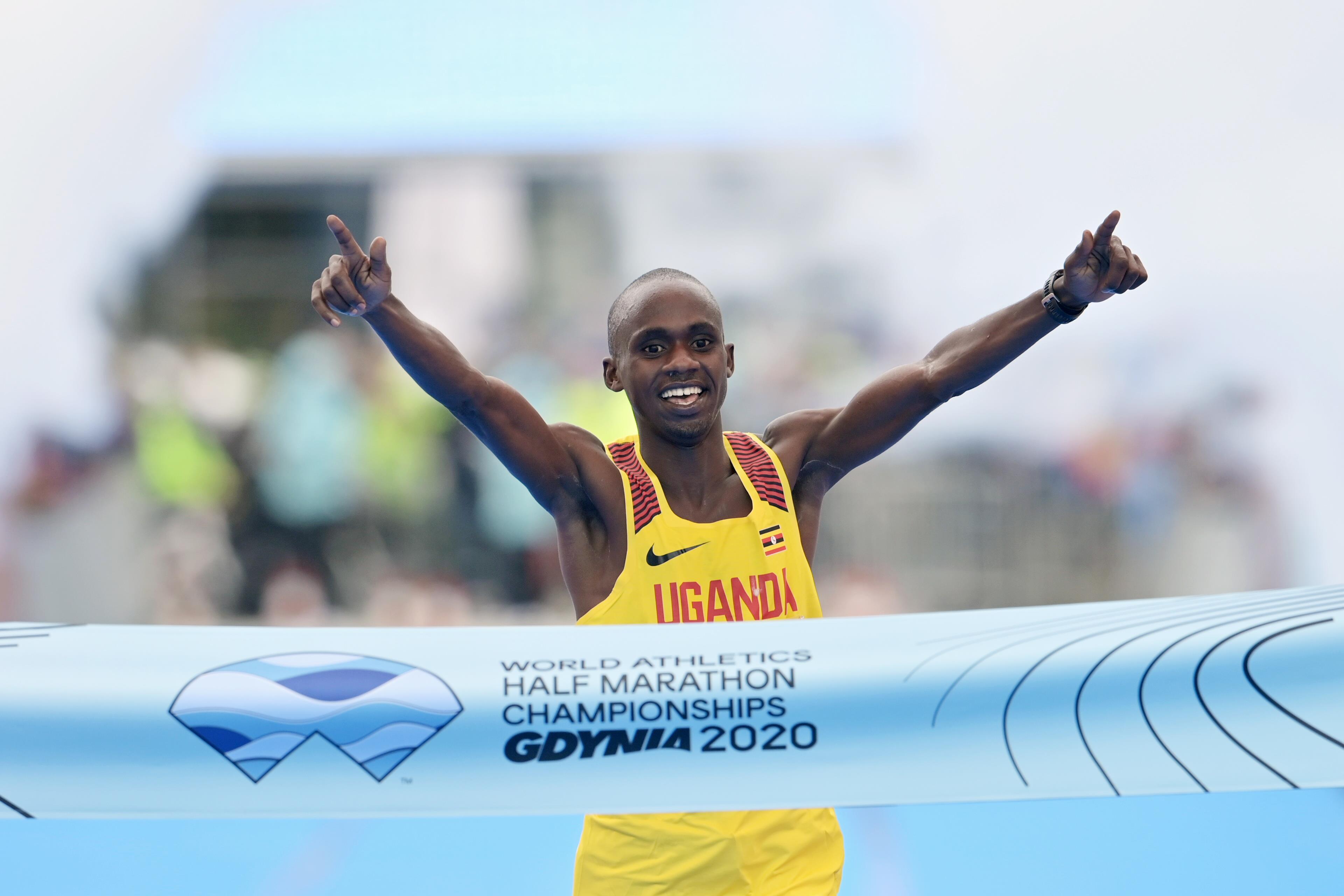 Jacob Kiplimo wins the World Athletics Half Marathon Championships Gdynia 2020 (Getty Images)