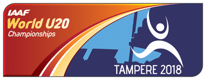 IAAF World U20 Championships Tampere 2018 logo (IAAF)