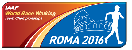IAAF World Race Walking Team Championships Rome 2016 logo (IAAF)
