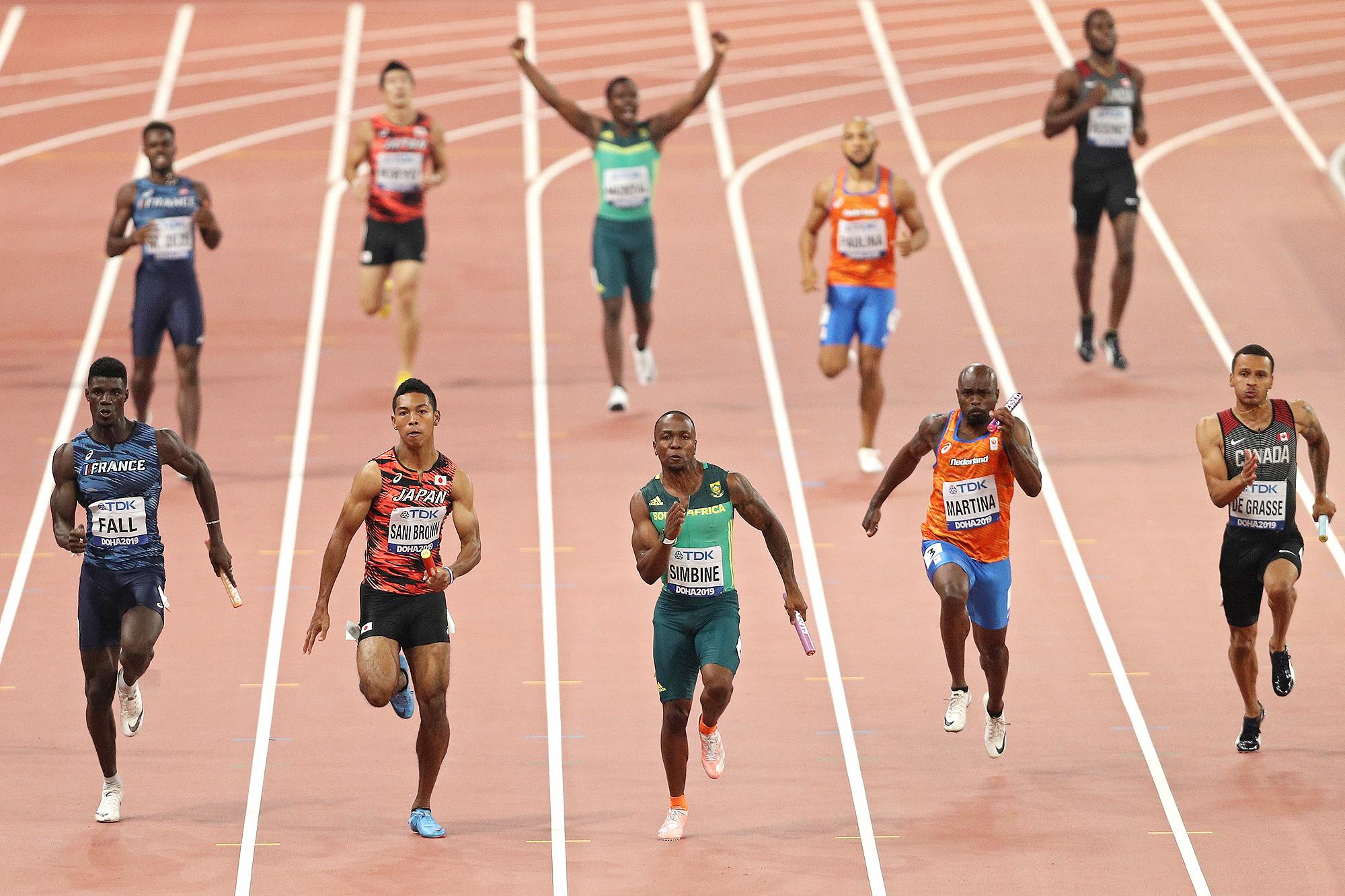 The men's 4x100m at the World Athletics Championships Doha 2019 (Getty Images)