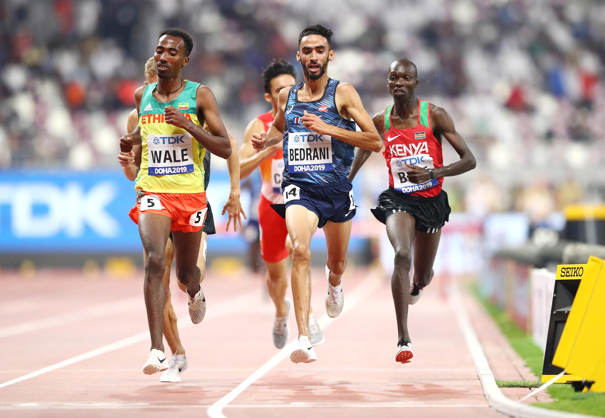 Action from the men's steeplechase at the World Championships (Getty Images)