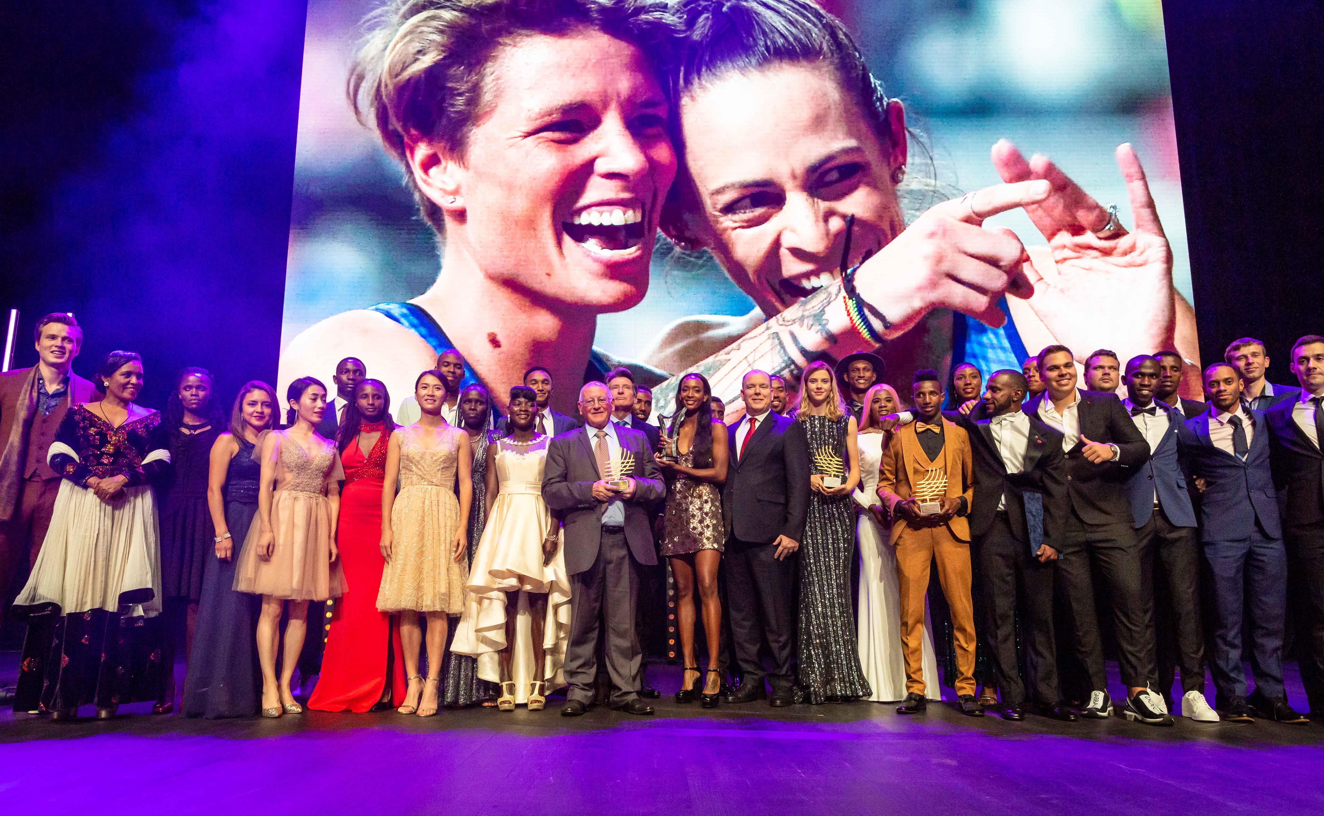 All of the award winners at the World Athletics Awards 2019 (Dan Vernon)
