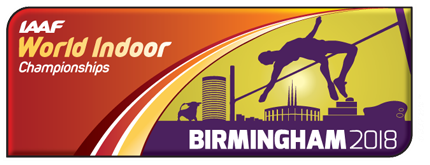 IAAF World Indoor Championships Birmingham 2018 logo (IAAF)