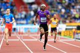 Abderrahman Samba en route to victory at the 2018 IAAF Continental Cup (Getty Images)