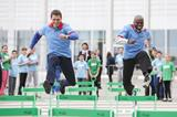 Yuriy Borzakovskiy and Wilson Kipketer at the IAAF / Nestlé Kids' Athletics event in Sochi (Getty Images)