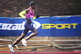 Mo Farah in action at the Big Half in London (Andrew Smith)