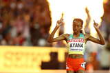 Almaz Ayana takes 10,000m gold in London (Getty Images)