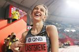 Now that's a smile! World high jump champion Mariya Lasitskene at the IAAF World Athletics Championships Doha 2019 (Getty Images)