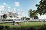 A rendering of Budapest's National Athletics Centre (Axiom Visual)
