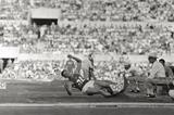 Vitold Kreyer in the triple jump at the 1960 Olympic Games in Rome (Mondadori)