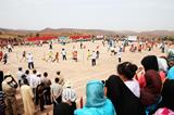 Douar Ait Iktel villagers supporting the IAAF / Nestlé Kids' Athletics event on 14 September 2014 (Getty Images)