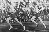 Swedish middle-distance runners Gunder Hagg (left) and Arne Andersson (right) ()