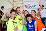 Schoolchildren at the IAAF / Nestlé Kids' Athletics activation in Lviv, Ukraine (Organisers)
