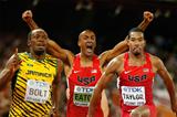 Usain Bolt, Ashton Eaton and Christian Taylor (Getty Images)